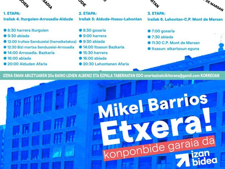 Mikel Barrios : demande de mise en liberté.